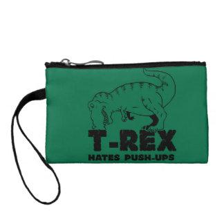 t rex hates push-ups coin purse