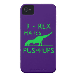 T REX HATES PUSHUPS Funny Dino Design Case-Mate iPhone 4 Case