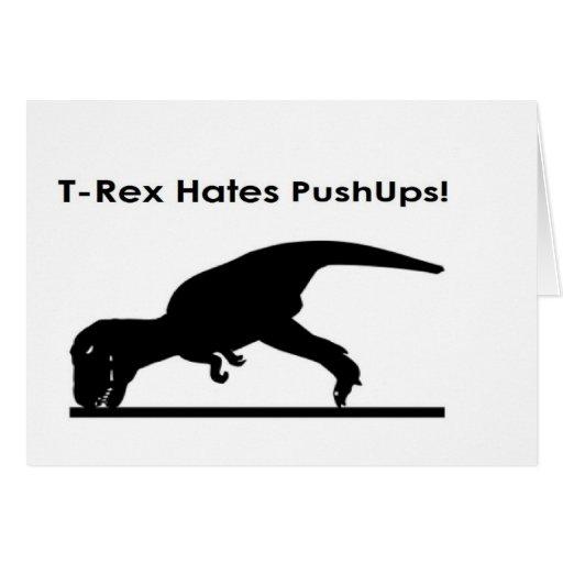 T-Rex Hates Pushups Push ups Humor Funny Cards