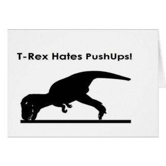 T-Rex Hates Pushups Push ups Humour Funny Greeting Card