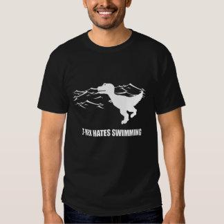 T-Rex Hates Swimming Dark T-Shirt