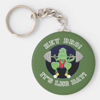 T-Rex. Hey Bro,  it's leg day! Key Chain