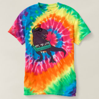 T-Rex Keyboard Tie Dye Shirt