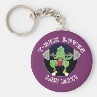 T-Rex Loves Leg Day! Keychains