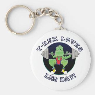 T-Rex Loves Leg Day! Key Chains