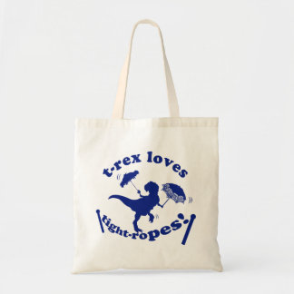 T-Rex Loves Tightropes! Budget Tote Bag