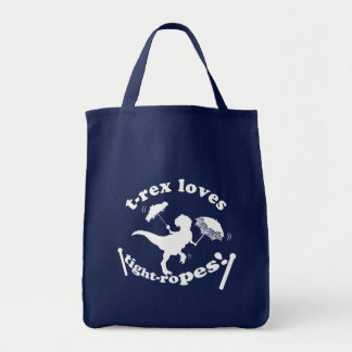 T-Rex Loves Tightropes! Grocery Tote Bag