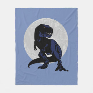 T-Rex Moon Dinosaur blanket