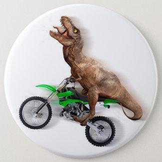 T rex motorcycle - t rex ride - Flying t rex 6 Cm Round Badge