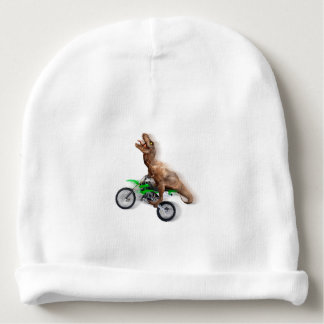 T rex motorcycle - t rex ride - Flying t rex Baby Beanie
