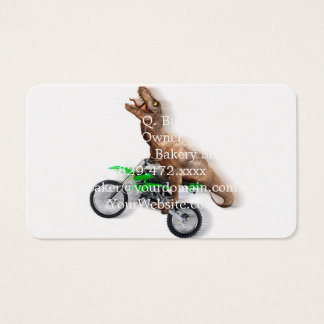 T rex motorcycle - t rex ride - Flying t rex Business Card