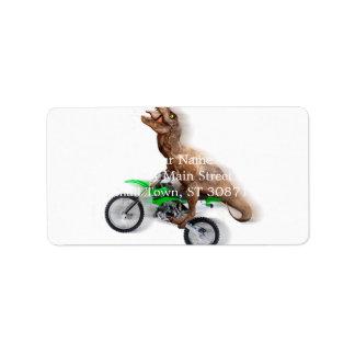 T rex motorcycle - t rex ride - Flying t rex Label