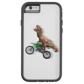 T rex motorcycle - t rex ride - Flying t rex Tough Xtreme iPhone 6 Case