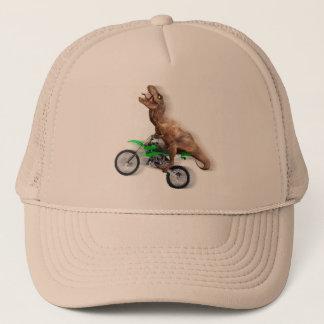 T rex motorcycle - t rex ride - Flying t rex Trucker Hat