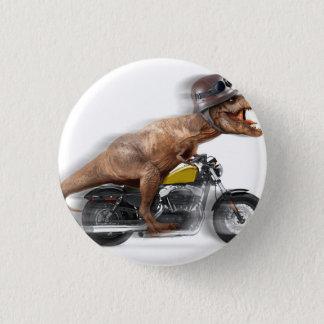 T rex motorcycle-tyrannosaurus-t rex - dinosaur 3 cm round badge