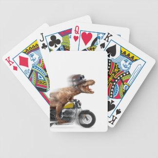 T rex motorcycle-tyrannosaurus-t rex - dinosaur bicycle playing cards