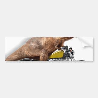 T rex motorcycle-tyrannosaurus-t rex - dinosaur bumper sticker