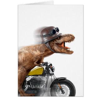 T rex motorcycle-tyrannosaurus-t rex - dinosaur card