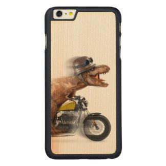 T rex motorcycle-tyrannosaurus-t rex - dinosaur carved maple iPhone 6 plus case