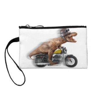 T rex motorcycle-tyrannosaurus-t rex - dinosaur coin purse