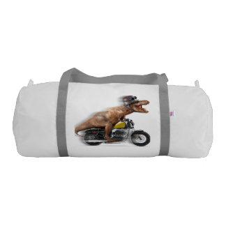 T rex motorcycle-tyrannosaurus-t rex - dinosaur gym bag