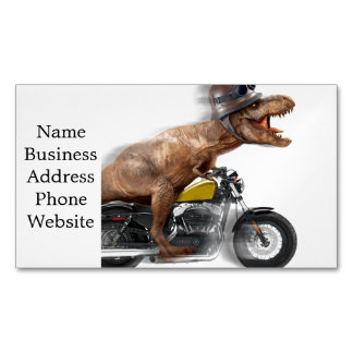 T rex motorcycle-tyrannosaurus-t rex - dinosaur 	Magnetic business card