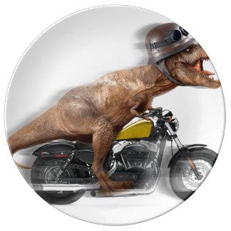 T rex motorcycle-tyrannosaurus-t rex - dinosaur plate