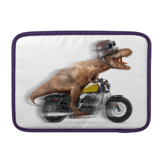 T rex motorcycle-tyrannosaurus-t rex - dinosaur sleeve for MacBook air