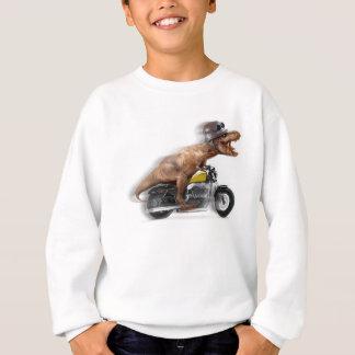 T rex motorcycle-tyrannosaurus-t rex - dinosaur sweatshirt