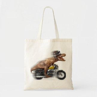 T rex motorcycle-tyrannosaurus-t rex - dinosaur tote bag