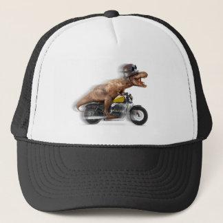 T rex motorcycle-tyrannosaurus-t rex - dinosaur trucker hat