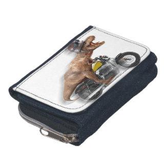 T rex motorcycle-tyrannosaurus-t rex - dinosaur wallet