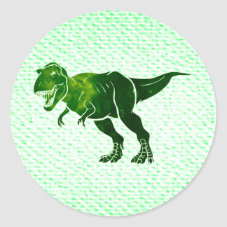 T-Rex on Textured Look Classic Round Sticker