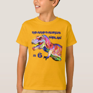 T-Rex Personalized Birthday Tshirt