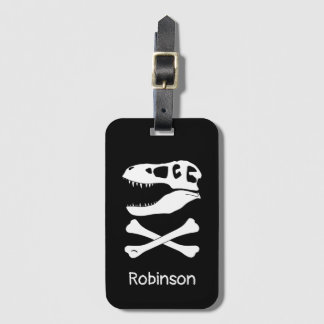 T-Rex Pirate Flag Luggage Tag