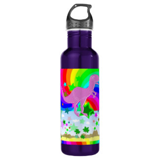 T-Rex Pixel Dinosaur 710 Ml Water Bottle