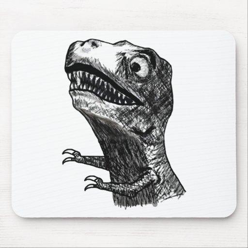 T-Rex Rage Meme - Mousepad
