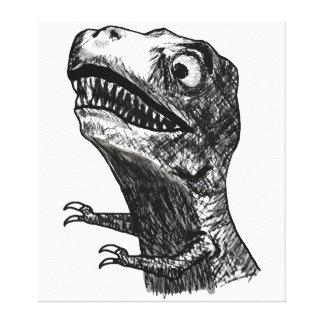 T-Rex Rage Meme - Wrapped Canvas Canvas Prints