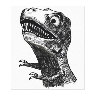 T-Rex Rage Meme - Wrapped Canvas Gallery Wrapped Canvas