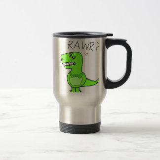 T-Rex Rawr Dinosaur Travel Mugs