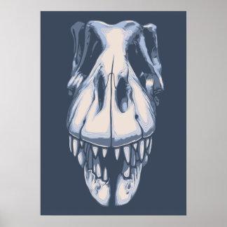 T-Rex Skull -Front Print