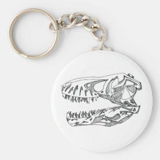 T-Rex Skull Keychain