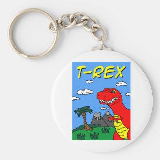 T-Rex Stuff!!! Basic Round Button Key Ring