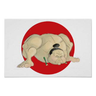 T-Rex Sumo Poster