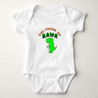 T-Rex The Power Of RAWR Baby Bodysuit