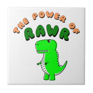 T-Rex The Power Of RAWR Ceramic Tile