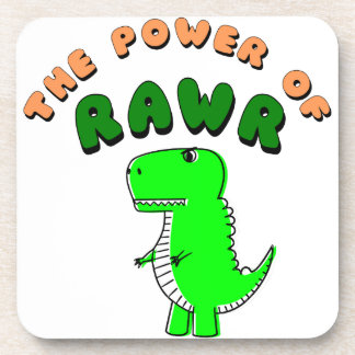 T-Rex The Power Of RAWR Coasters