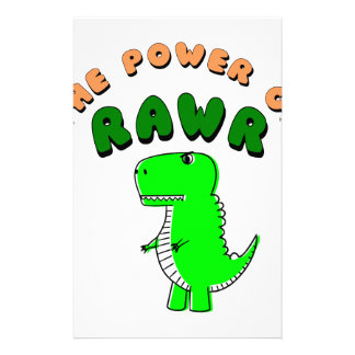 T-Rex The Power Of RAWR Stationery