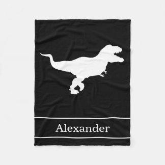 T-Rex TRex Tyrannosaurus Rex with Name Fleece Blanket