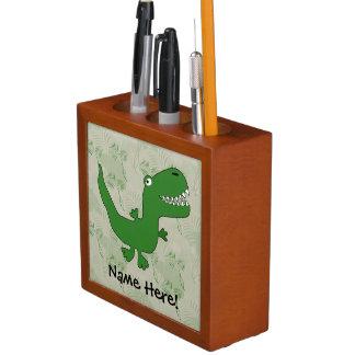 T-Rex Tyrannosaurus Rex Dinosaur Cartoon Kids Boys Pencil/Pen Holder